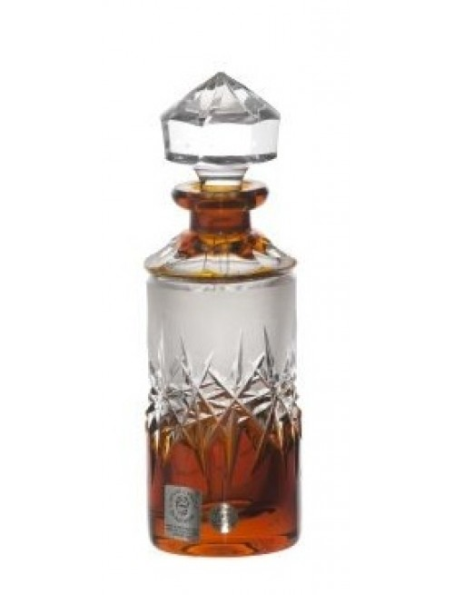 Crystal Perfume Bottle Hoarfrost, color amber, volume 90 ml