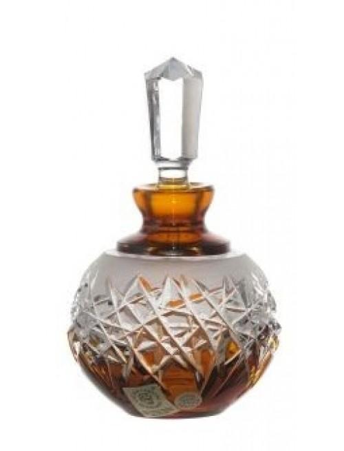 Crystal Perfume Bottle Hoarfrost, color amber, volume 100 ml