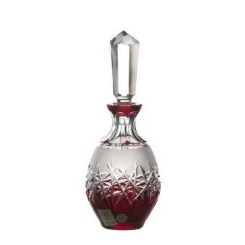 Crystal Perfume Bottle Hoarfrost, color ruby, volume 130 ml