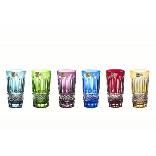 Crystal Set Glass Tomy, color mix, volume 320 ml