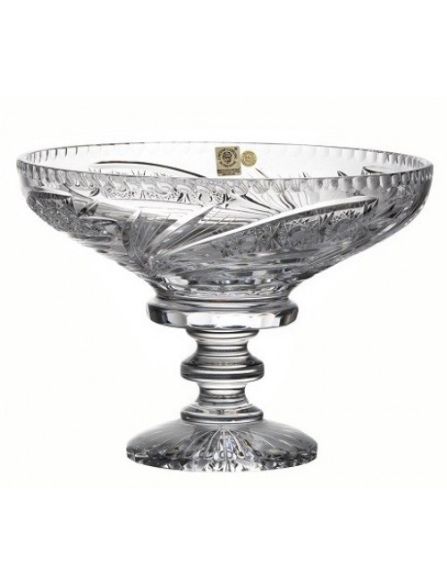 Crystal Footed Bowl Comet, color clear crystal, diameter 250 mm