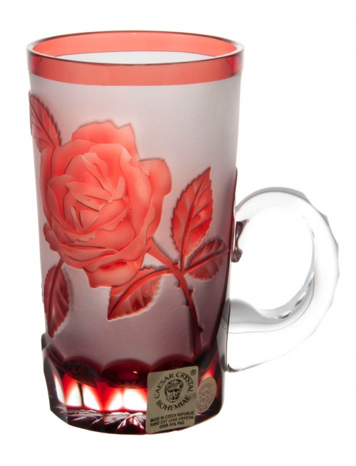 Crystal Cup Rose, color ruby, volume 100 ml