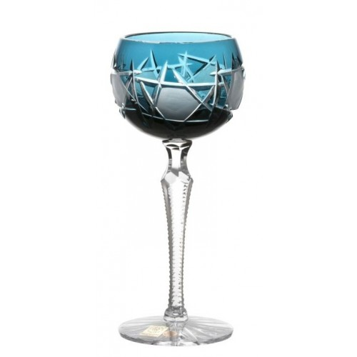 Crystal Wine Glass Mars, color azure, volume 190 ml