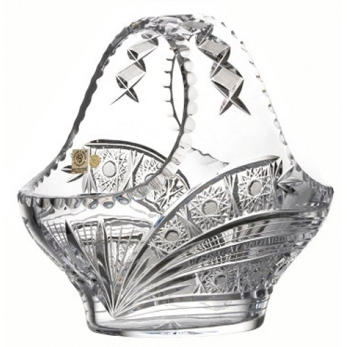 Crystal basket Comet, color clear crystal, diameter 255 mm