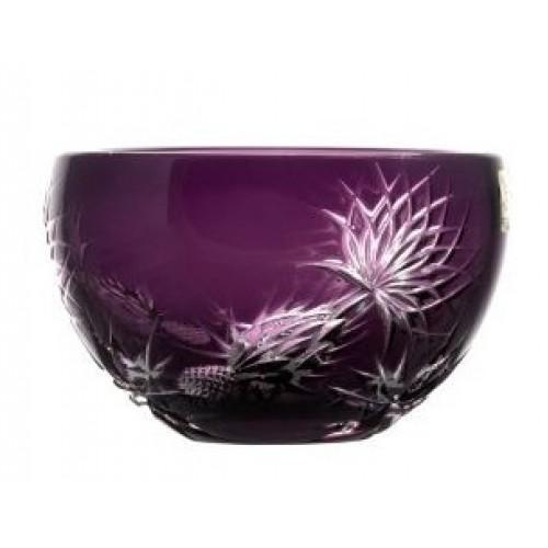 Crystal bowl Thistle, color violet, diameter 140 mm