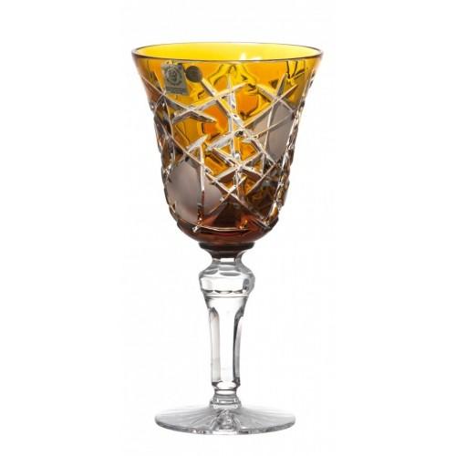 Crystal Wine Glass Mars, color amber, volume 240 ml