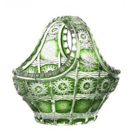 Crystal Basket Paula, color green, diameter 150 mm