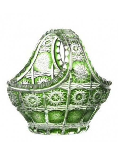 Crystal Basket Paula, color green, diameter 150 mm