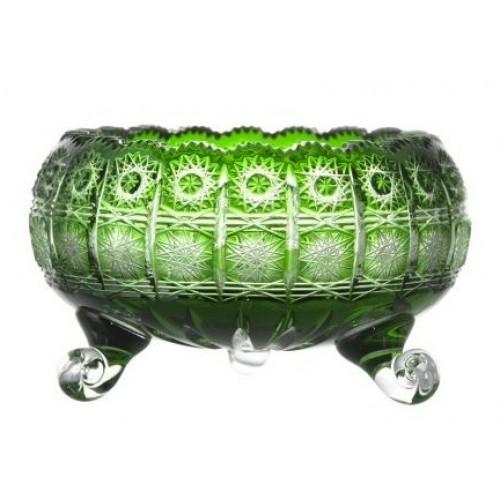 Crystal Bowl Paula II, color green, diameter 205 mm