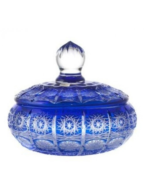 Crystal Box Paula, color blue, height 195 mm