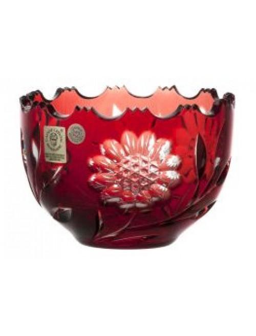 Crystal bowl Garden, color ruby, diameter 110 mm