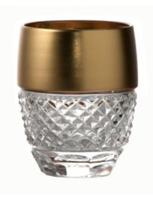Crystal shot glass Gold, color clear crystal, volume 50 ml