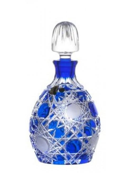Crystal Bottle Flake, color blue, volume 700 ml