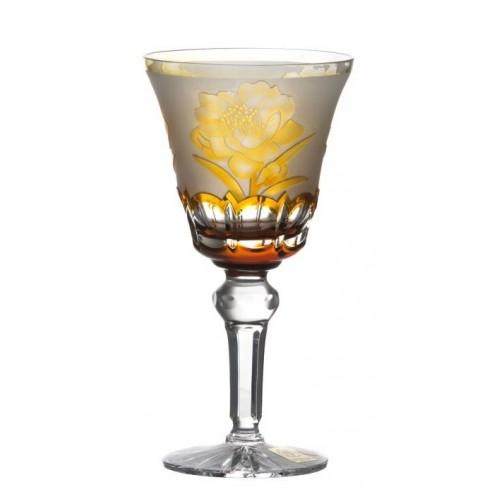 Crystal Wine Glass Sakura, color amber, volume 180 ml