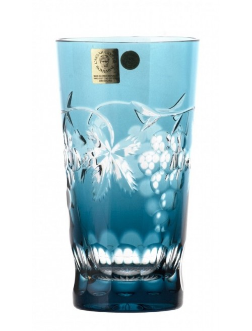 Crystal Glass Grapes, color azure, volume 320 ml