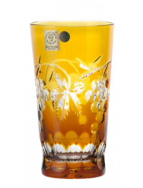 Crystal Glass Grapes, color amber, volume 320 ml