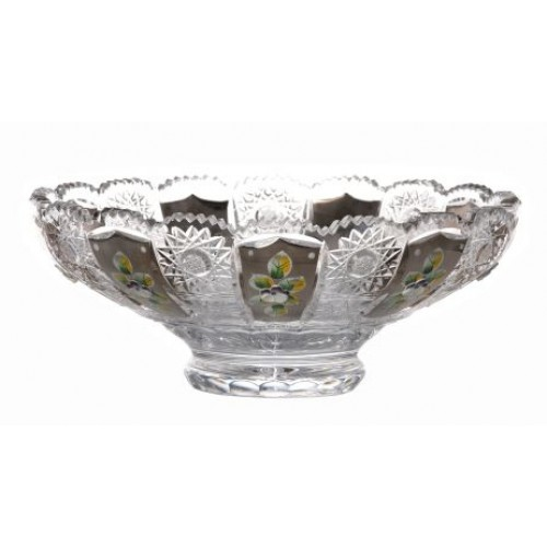Crystal bowl 500K platinum, color clear crystal, diameter 250 mm