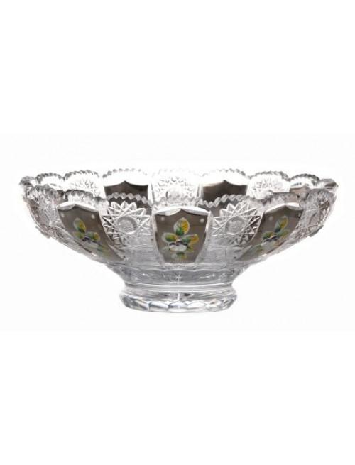 Crystal bowl 500K platinum, color clear crystal, diameter 250 mm
