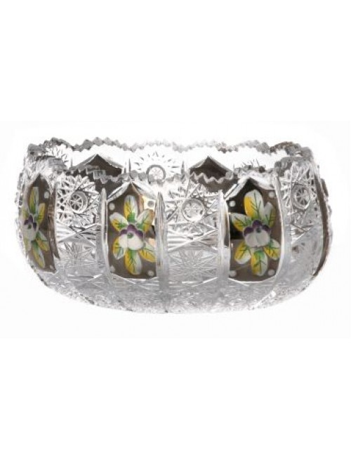 Crystal bowl 500K platinum, color clear crystal, diameter 155 mm