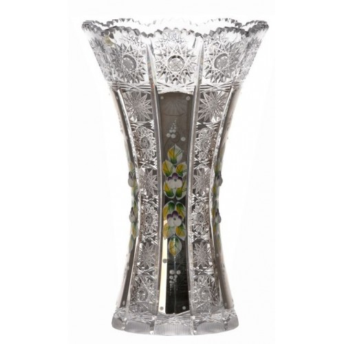 Crystal Vase 500K platinum, color clear crystal, height 255 mm