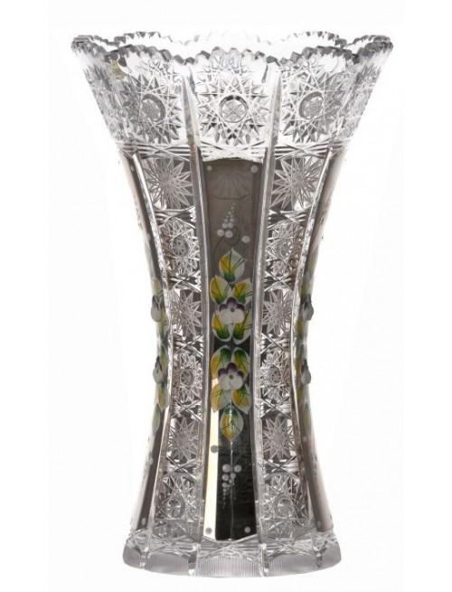 Crystal Vase 500K platinum, color clear crystal, height 255 mm