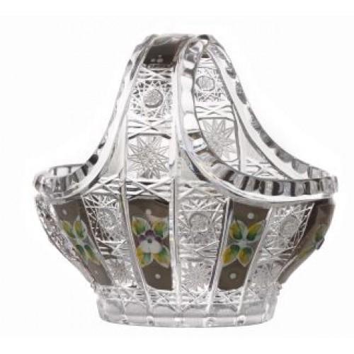 Crystal basket Platinum, color clear crystal, diameter 150 mm