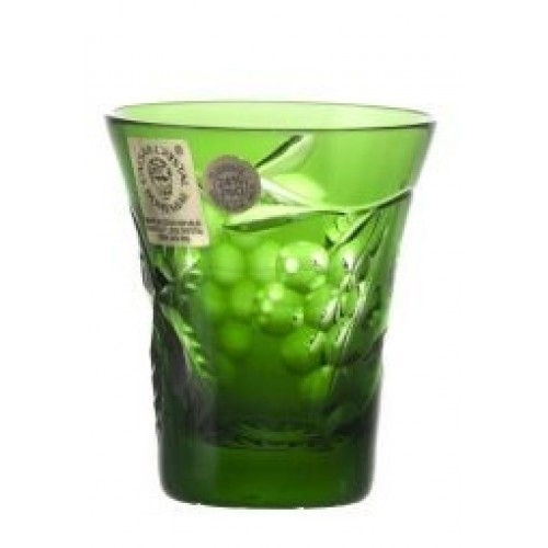 Crystal Shot Glass Grapes, color green, volume 45 ml