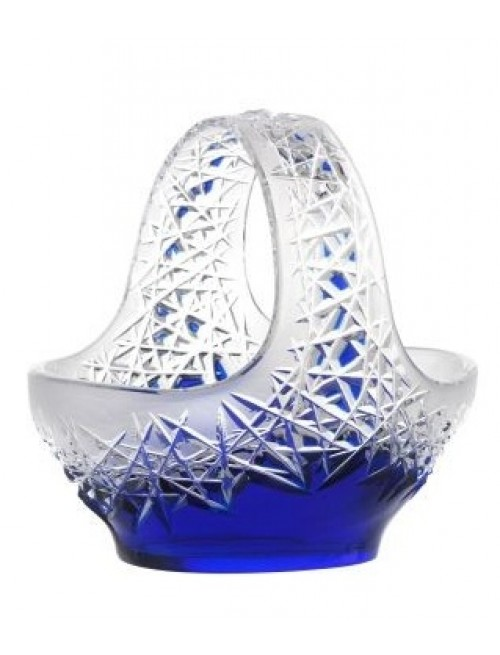 Crystal Basket Hoarfrost, color blue, diameter 230 mm
