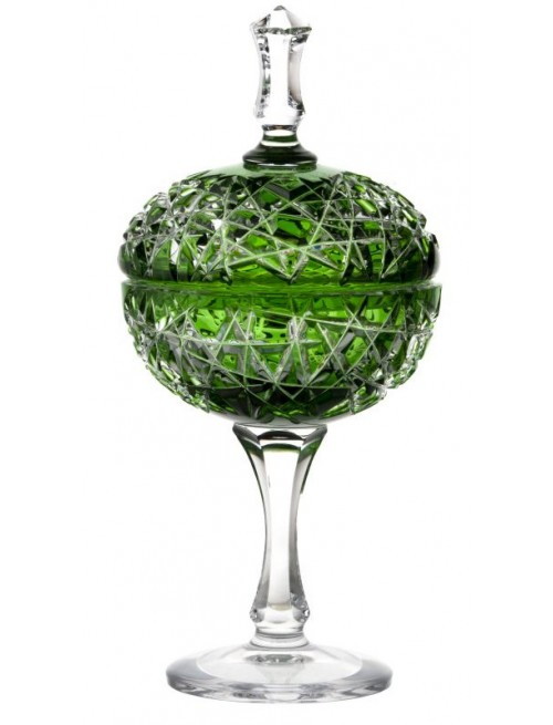 Crystal cup Taiga, color green, height 315 mm