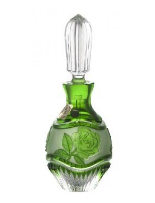 Crystal perfume bottle Rose, color green, volume 130 ml