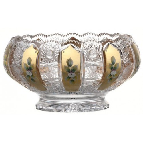 Crystal Bowl 500K gold, color clear crystal, diameter 260 mm