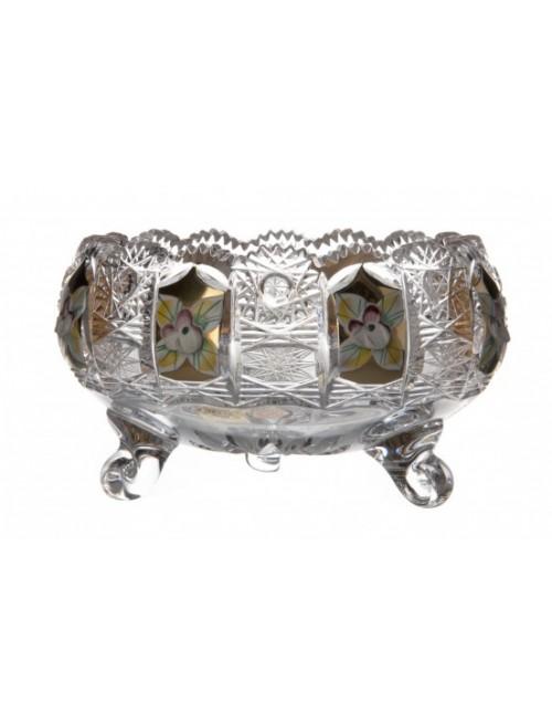 Crystal Bowl enamel, color clear crystal, diameter 128 mm