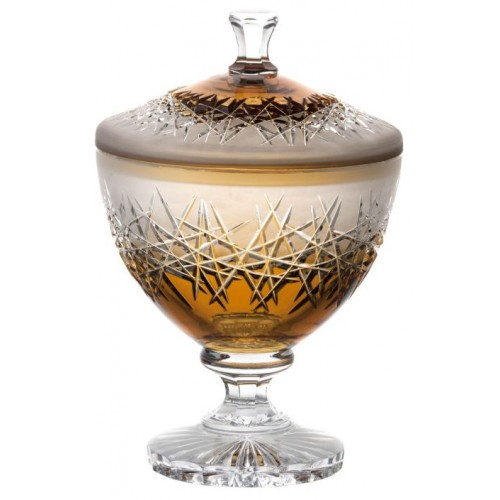 Crystal box Hoarfrost, color amber, height 260 mm