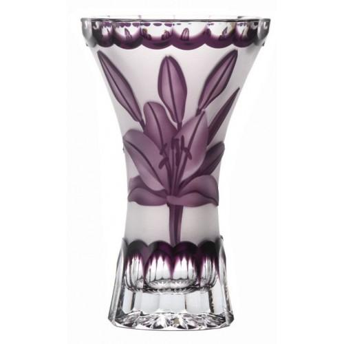 Crystal Vase Lily, color violet, height 155 mm