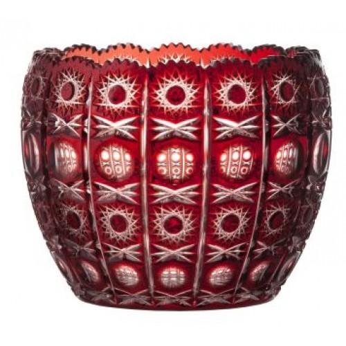Crystal bowl Petra, color ruby, diameter 240 mm