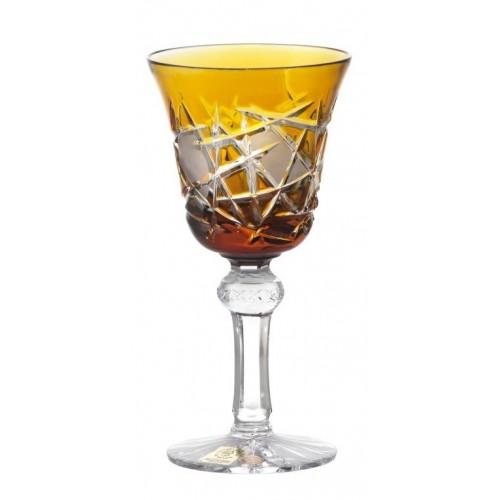 Crystal Wine Glass Mars, color amber, volume 180 ml