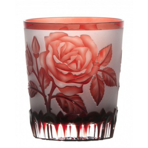 Crystal Glass Rose, color ruby, volume 290 ml