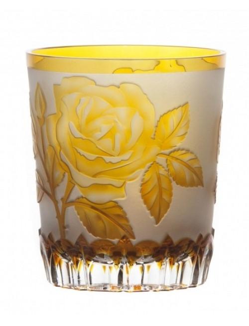 Crystal Glass Rose, color amber, volume 290 ml