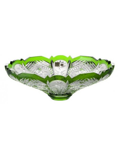 Crystal bowl Dorote, color green, diameter 320 mm