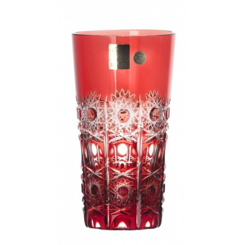 Crystal Glass Petra, color ruby, volume 320 ml