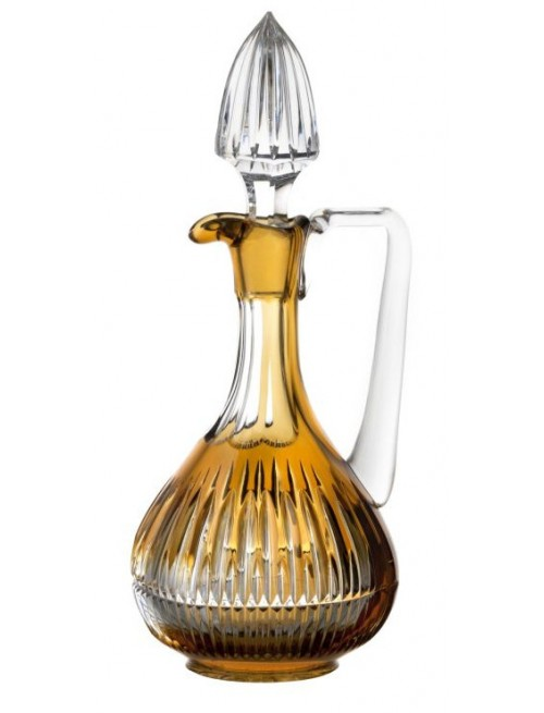 Crystal carafe Thorn, color amber, volume 950 ml