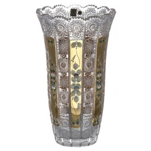 Crystal Vase 500K gold, color clear crystal, height 310 mm