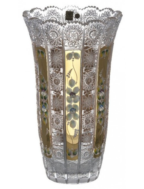 Crystal Vase 500K gold, color clear crystal, height 310 mm