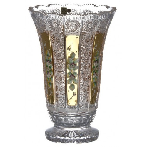 Crystal Vase 500K gold, color clear crystal, height 305 mm