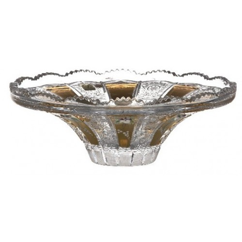 Crystal bowl 500K gold, color clear crystal, diameter 255 mm