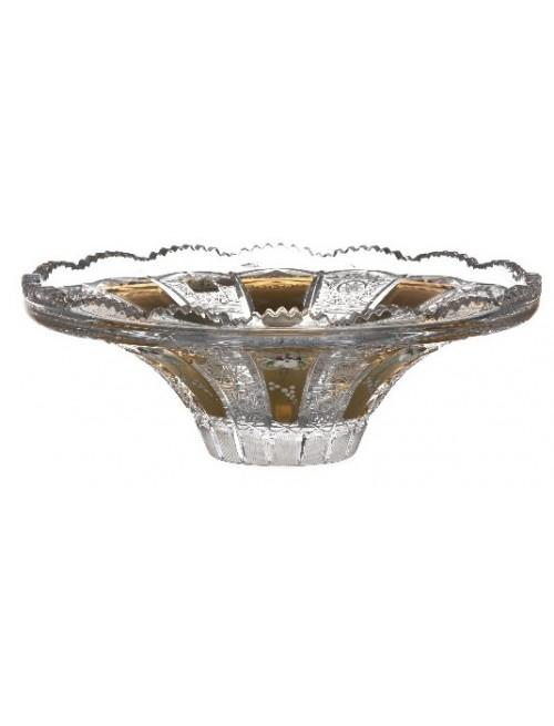 Crystal bowl 500K gold, color clear crystal, diameter 255 mm