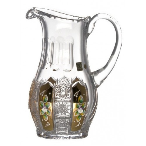 Crystal pitcher 500K gold, color clear crystal, volume 1300 ml