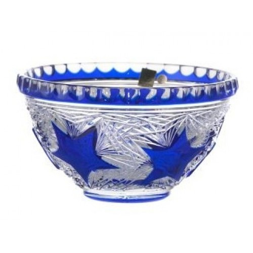 Crystal Bowl Stella, color blue, diameter 210 mm