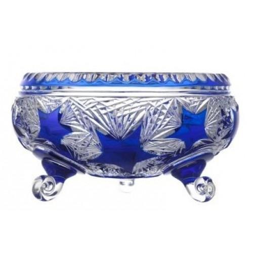 Crystal Bowl Stella II, color blue, diameter 230 mm