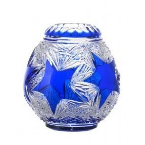 Crystal Vase Stella, color blue, height 135 mm